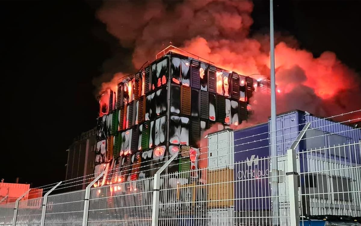incendie OVH - source : Twitter